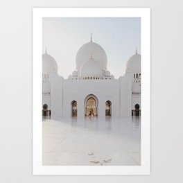 Sheikh Zayed Mosque Art Print