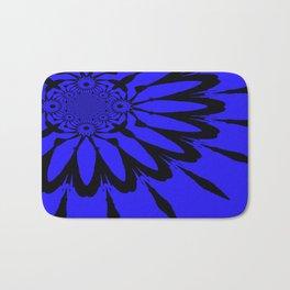 The modern flower Royal Blue Bath Mat
