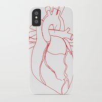 anatomical heart iPhone & iPod Cases featuring Anatomical heart by Laurel Howells
