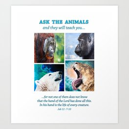 Ask The Animals Art Print
