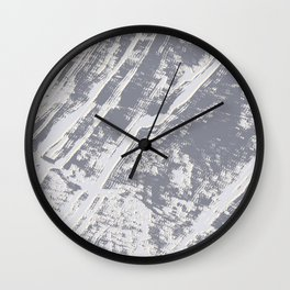 shades of gray marble effect Wall Clock