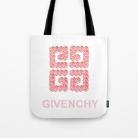 givenchy Tote Bags featuring Givenchy Roses by I Love Decor