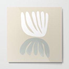 Botanical Mirror Sage Metal Print