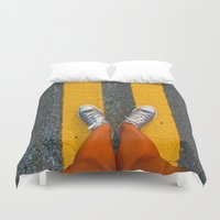 converse Duvet Covers featuring Converse Contrast by jyoshimitsuj