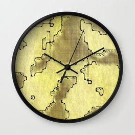 fantasy dungeon maps 8 Wall Clock