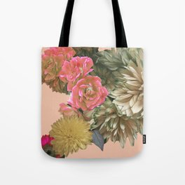 Soft Flowers Abstract Tote Bag