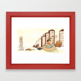 Reading Boy by Emily Winfield Martin Framed Art Print