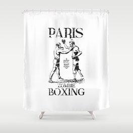 xX PARIS ZOMBIE BOXING Xx Shower Curtain