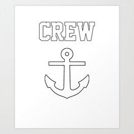 Crew Anchor Nautical Gift Sailing Ship Yacht Design Art Print