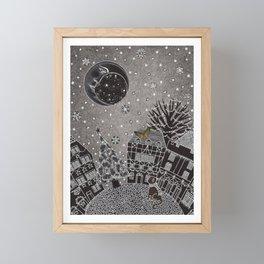 'Twas a Moonlit Winter Night Framed Mini Art Print