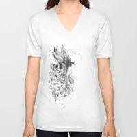 sketch V-neck T-shirts featuring Sketch  by 5CUZ1