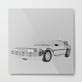 DeLorean DMC-12 Metal Print