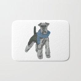 Welsh Terrier, Blue Bath Mat