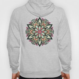 Tribal Geometric brown and green Mandala Hoody