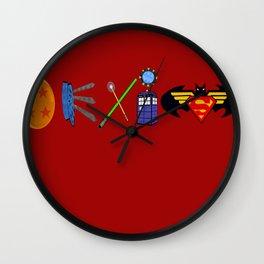 Geekiest Coexist - Centered Wall Clock