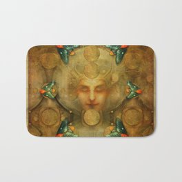 """Art Deco II The Chimera (Moth)"" Bath Mat"