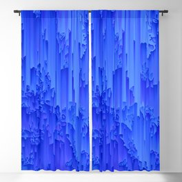Melted, blue Blackout Curtain