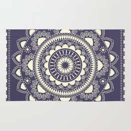 Boho Indian medallion Blue Rug