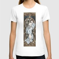 scandal T-shirts featuring A Scandal in Belgravia - Mucha Style by Alessia Pelonzi