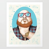 action bronson Art Prints featuring Action Bronson by Timothy McAuliffe
