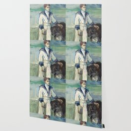 """Henri de Toulouse-Lautrec """"L'Enfant au chien, fils de Madame Marthe et la chienne Pamela-Taussat"""" Wallpaper"""