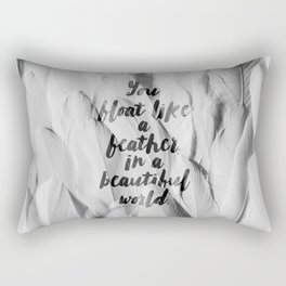 Like a feather in a beautiful world. Rectangular Pillow