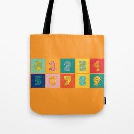 Number Grid Tote Bag