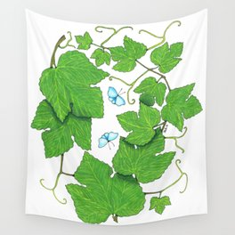 Grape Leaves Wall Tapestry