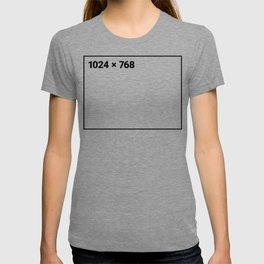 1024 x 768 black frame T-shirt