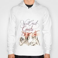 west coast Hoodies featuring West Coast Goats by Mikael Biström