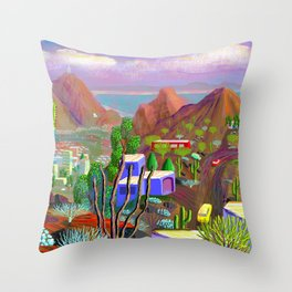 Phoenix after California falls in the Ocean Throw Pillow