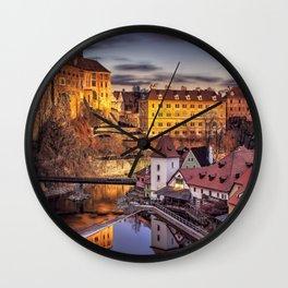 World Famous Historic State Castle And Chateau Český Krumlov Czech Republic Europe Ultra HD Wall Clock