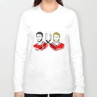 blackhawks Long Sleeve T-shirts featuring Toews & Kane by Kana Aiysoublood