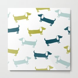 Lovely dachshunds in great colors Metal Print