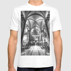 Rochester Cathedral White MEDIUM Mens Fitted Tee