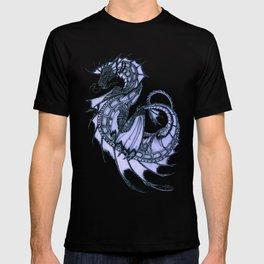 """Tsunami"" by Amber Marine ~ Sea Dragon (Amethyst Version) ~ Graphite Illustration, (Copyright 2005) T-shirt"