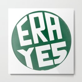 ERA YES Vintage Button Metal Print