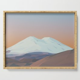 Elbrus / Mountain Art Serving Tray