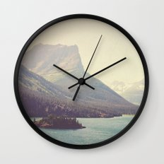 Retro Glacier Wall Clock
