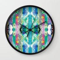 kaleidoscope Wall Clocks featuring kaleidoscope by Xenia Pirovskikh