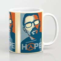 half life Mugs featuring Half Life Hope by The Strynx