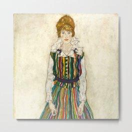 "Egon Schiele ""Portrait of Edith Schiele, the artist's wife"" (1915) Metal Print"