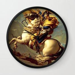 "Jacques-Louis David ""Napoleon crossing the Alps"" Wall Clock"