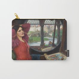 I am half-sick of shadows, said the Lady of Shalott - John William Waterhouse Carry-All Pouch