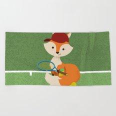 Tennis fox Beach Towel