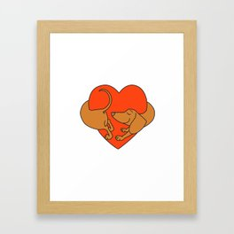 Houd of Love Framed Art Print
