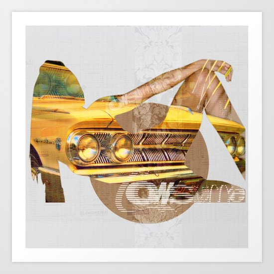 My Egoistic Dreams - Yella Art Print