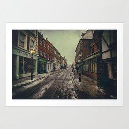 Rochester High Street in Snow Art Print