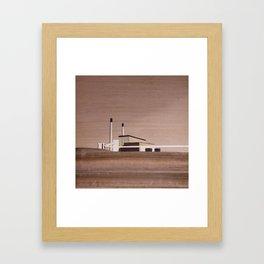 Cockenzie Power Station | Marquetry Framed Art Print