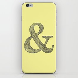 Yellow Ampersand iPhone Skin